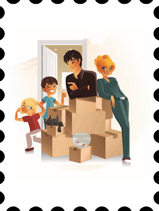 Opac 73 - Portrait d'une famille faisant ses cartons